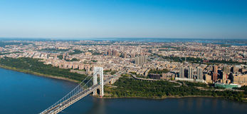 Aerial View of George Washington Bridge, New York/New Jersey Stock Photography