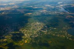 Aerial view of German agricultural Royalty Free Stock Images