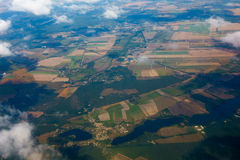 Aerial view of German agricultural Stock Image