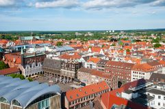 Aerial view of the German city of Lubeck Royalty Free Stock Image