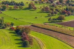 An aerial view of German green countryside Stock Photography