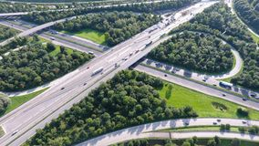 German motorways seen from above royalty free stock image