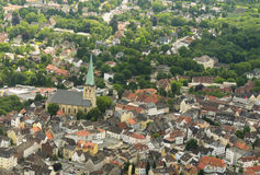 Aerial view of German town Stock Images
