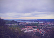 Aerial view of Getxo Royalty Free Stock Photography
