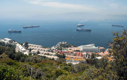 Aerial view of Gibraltar Royalty Free Stock Photos