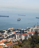 Aerial view of Gibraltar Royalty Free Stock Photo