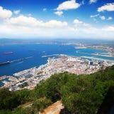 Aerial view of Gibraltar Stock Photos