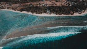 Gili Terawangan Island, Lombok, Indonesia. An aerial view of gili terawangan island Stock Images