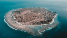 Gili Terawangan Island, Lombok, Indonesia. An aerial view of gili terawangan island Stock Photography