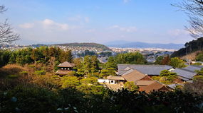 Aerial view of Ginkaku-ji (Silver Pavilion) Royalty Free Stock Photo