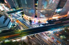 Aerial view of Ginza, Tokyo, Japan Stock Photo