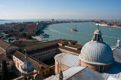 Aerial view of Giudecca island in Venice Royalty Free Stock Photography