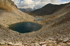 Aerial view of glacial lake in Posets-Maladeta Stock Image