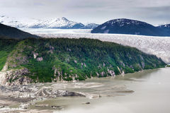 Aerial view of glacier in Alaska Royalty Free Stock Photography