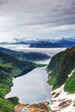 Aerial view of glacier in Alaska Stock Images