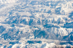 Aerial view of Glacier in the Alps Stock Photos