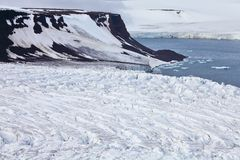 Aerial View of Glaciers royalty free stock photography