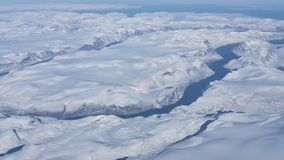 Aerial view of the glaciers and icebergs of Greenland royalty free stock photography