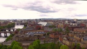Glasgow Aerial View of City Centre from Glasgow Green