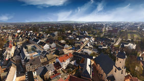 Aerial view Glauchau in Germany architecture town streets Stock Images
