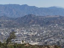 Aerial view of Glendale downtown. At Los Angeles royalty free stock image