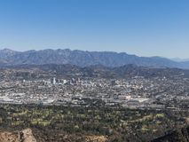 Aerial view of Glendale downtown. At Los Angeles royalty free stock photos