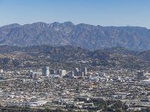 Aerial view of Glendale downtown. At Los Angeles royalty free stock photography