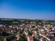 Aerial view of goessnitz altenburg thuringia town Royalty Free Stock Photos