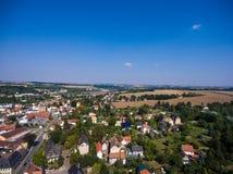 Aerial view of goessnitz altenburg thuringia town Stock Image