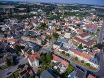 Aerial view of goessnitz altenburg thuringia town Stock Photos