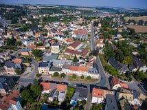 Aerial view of goessnitz altenburg thuringia town Royalty Free Stock Photography