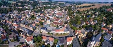 Aerial view of goessnitz altenburg thuringia town Stock Photography