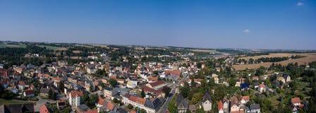 Aerial view of goessnitz altenburg thuringia town Royalty Free Stock Photo
