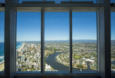 Aerial view of the Gold Coast as seen from the Q1 building Royalty Free Stock Photo