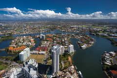 Aerial view of the Gold Coast hinterland Royalty Free Stock Photo