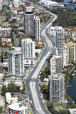 Aerial view of the Gold Coast light rail corridor Royalty Free Stock Image