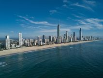 Aerial view of Gold Coast at sunrise, Queensland, Australia Royalty Free Stock Photos