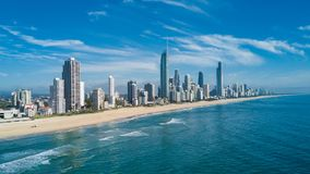 Aerial view of Gold Coast at sunrise, Queensland, Australia Stock Image