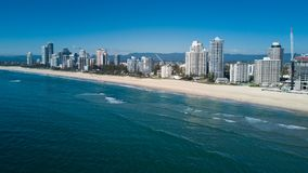 Aerial view of Gold Coast at sunrise, Queensland, Australia Stock Images