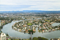 Aerial view at Gold Coast Royalty Free Stock Images