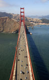 Aerial View of Golden Gate. An aerial view on the Golden Gate Bridge (San Francisco, CA Royalty Free Stock Image