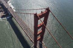 Aerial View of Golden Gate Bridge in California Stock Photo