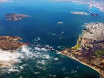 San Francisco California, Aerial View royalty free stock images