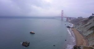 Aerial View of the Golden Gate Bridge stock footage