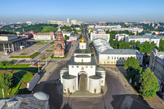 Aerial view on Golden Gate in Vladimir, Russia Royalty Free Stock Photos