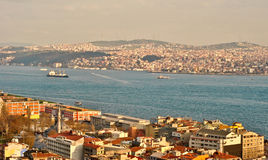 Istanbul Turkey view from Galata Tower Royalty Free Stock Photos