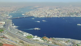 Aerial view of Golden Horn stock video footage