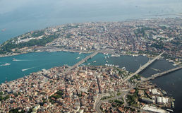 Aerial view, Golden Horn, Istanbul, Turkey Stock Photography