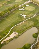 Aerial view of golf course Stock Photo