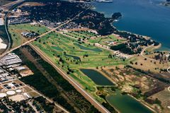 Aerial view of a golf course Stock Photography